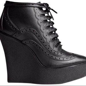 burberry prorsum brogue wedge boots